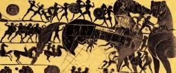 kleiner, in korinthischem Stil gemalter Aryballos aus rotgelbem Thon (small Corinthian black-figure Aryballos from c. BCE) from jahrbuchdeskaiserlich page 431 Kaiserlich Deutsches Archäologisches Institut, 1887