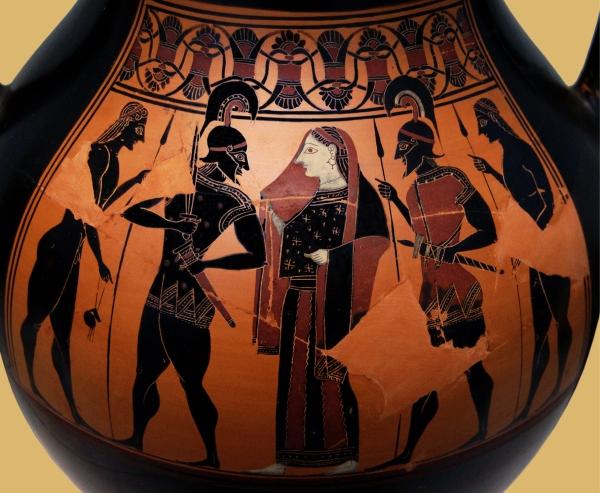 Attic black-figure amphora, ca. 550 BC.