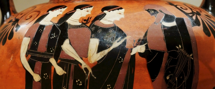 Attic Black-Figure Neck Amphora by Swing Painter c. 540-530 BCE