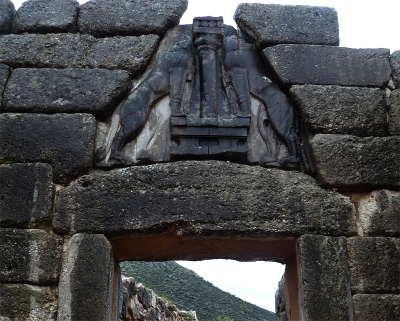 The Lion Gate at Mycenae, Greece - click image for more details