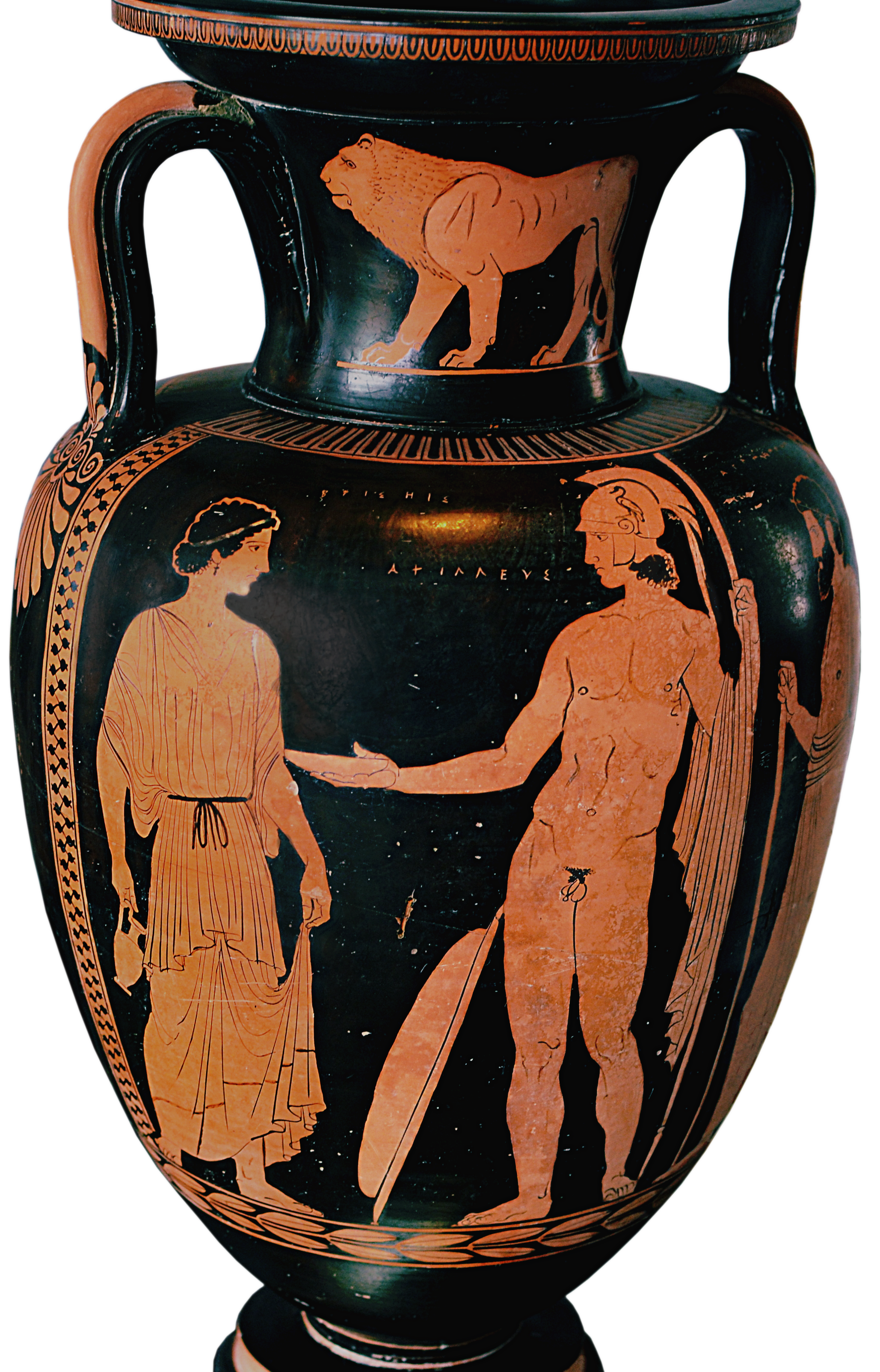 A glossary of ancient greek characters the shield of achilles apulian red figure amphora ca 430 410 bce depicting achilles and briseis reviewsmspy