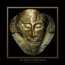 Known as the 'Mask of Agamemnon,' this exquisite funerary mask is made of gold, ca. 16th century BCE. It was found in 1876 by Heinrich Schliemann in Tomb V at Mycenae, Greece. Currently on display in the National Archaeological Museum, Athens, Greece. Source: Wikimedia Commons