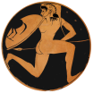 Attic Red-figure Kylix by the Colmar Painter, ca. 510 BCE. Source: Wikimedia Commons