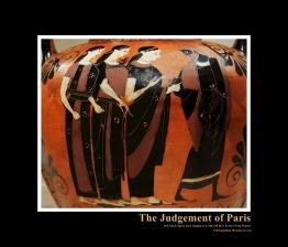 Attic Black-Figure Neck Amphora by Swing Painter c. 540-530 BCE depicting the legendary Judgement of Paris