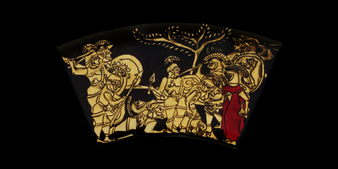 Middle Ring: BATTLE! From the Shield of Achilles by Kathleen Vail  © All Rights Reserved