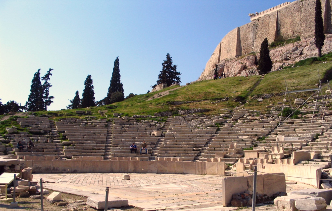 The Theater of Dionysus in Athens. Image by Ian W. Scott. Source: Wikimedia Commons