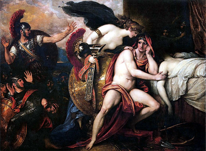 Thetis Bringing Armor to Achilles by Benjamin West, 1806. Source: Wikimedia Commons