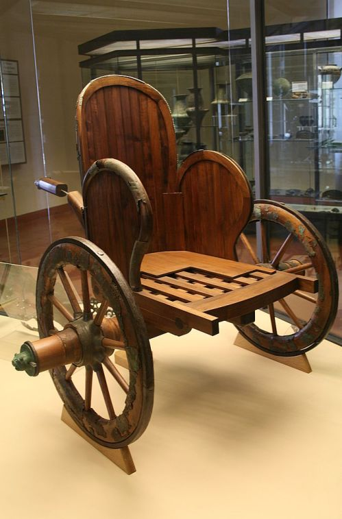 Wooden Substructure of a very similar Etruscan Chariot, ca. 550 BCE. Source: Wikimedia Commons
