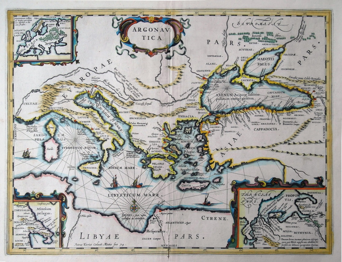 Kaerius' Map of the Argonautica, ca. 1645 CE. Source: Wikimedia Commons