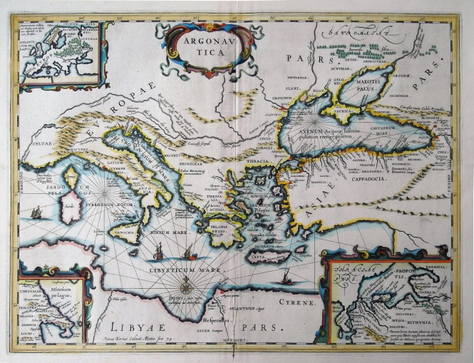 Kaerius' Map of the Argonautica, ca. 1645 CE. Source: Wikimedia Commons