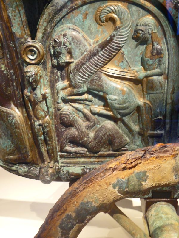 Left Side Panel of Monteleone Chariot, depicting Achilles' apotheosis. Source: Mary Harrsch, Flickr