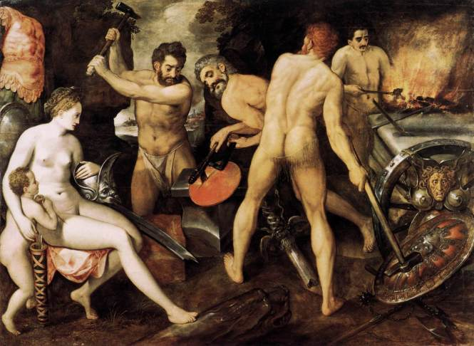 Venus at Vulcan's Forge, by Frans Floris de Vriendt, ca. 1560 -1564. Source: Wikimedia Commons