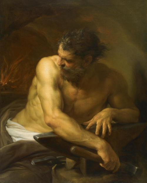 Vulcan in his forge, by Pompeo Batoni ca. 1750. Source: Wikimedia Commons