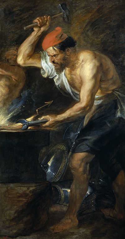 Vulcan forging the rays of Jupiter, by Peter Paul Reubens, ca. 1636. Source: Wikimedia Commons