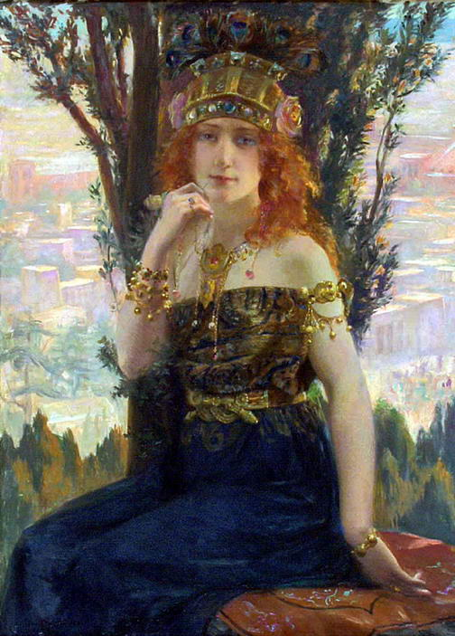 1895 painting of Helen of Troy by Gaston Bussière (1862–1928). Source: Wikimedia Commons