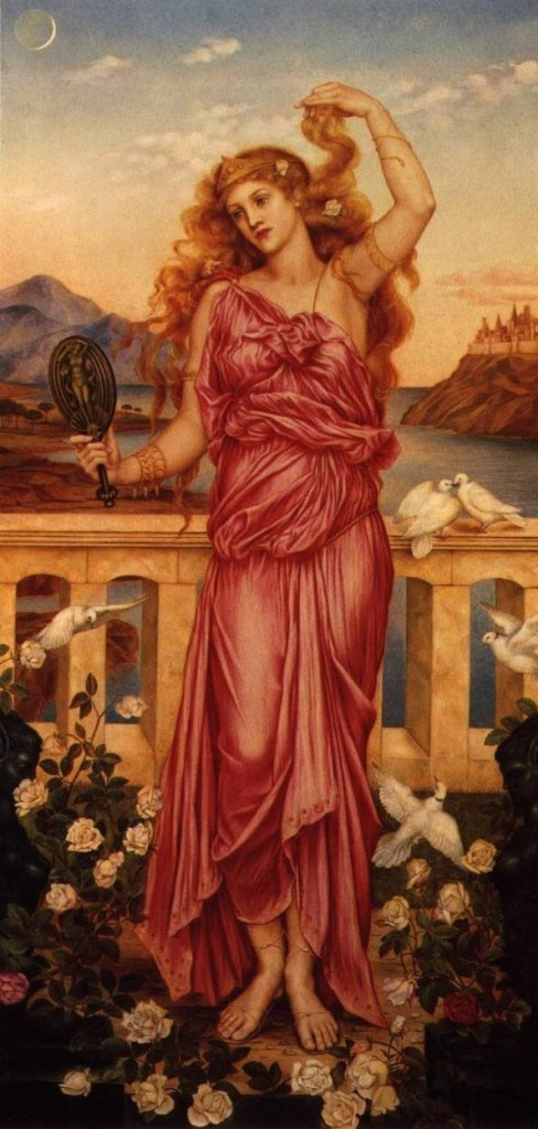 Helen of Troy, 1898 painting by Evelyn de Morgan