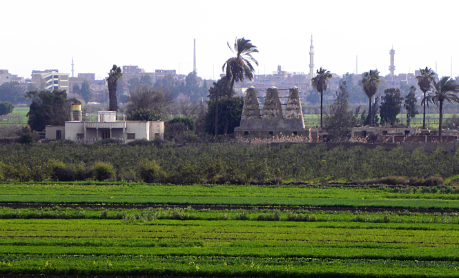 The Southern view from our home in Egypt. Credit: K. Vail