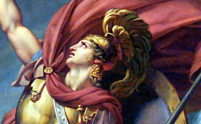 Detail from The Fight of Achilles against Scamander and Simoeis by Auguste Couder, ca. 1819. Source: Wikimedia Commons