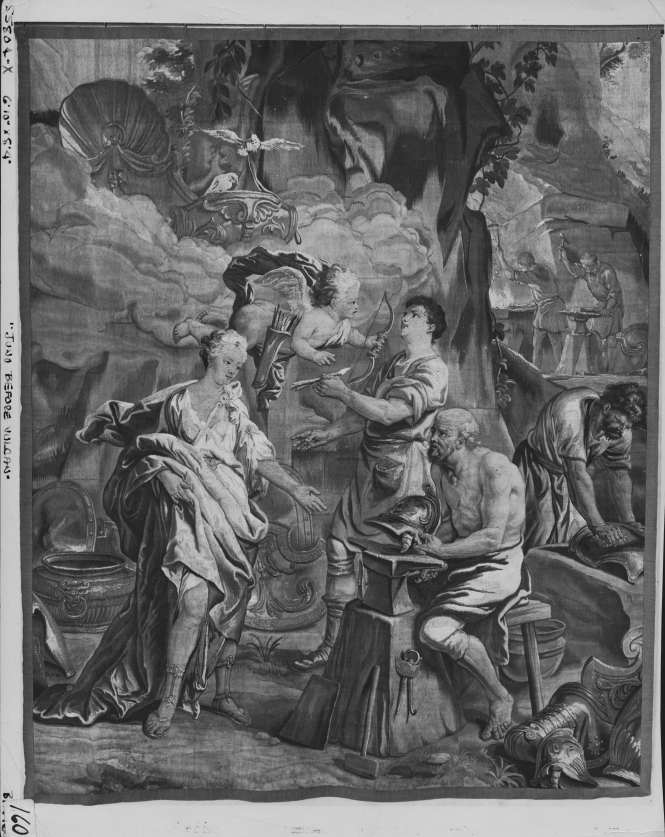 Thetis at Vulcan's Forge, Flemish Tapestry from Brussels designed by Jan van Orley, ca. 1700-1725. Source: Getty.edu