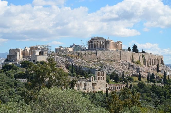 The Acropolis of Athens viewed from the Hill of the Muses. Source: CCSA 2.0 Carole Raddato via Wikimedia Commons