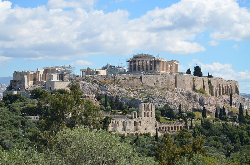 The Acropolis of Athens viewed from the Hill of the Muses. Source: Wikimedia Commons
