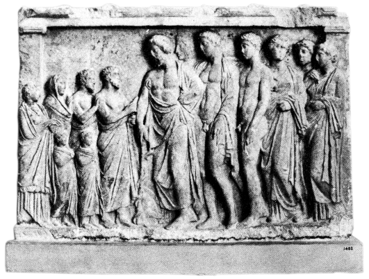 Relief in Form of a Shrine to Asklepios. Source: Wikimedia Commons
