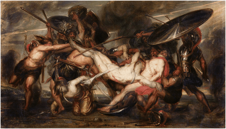 Battle for the body of Patroklos. Source: Wikimedia Commons