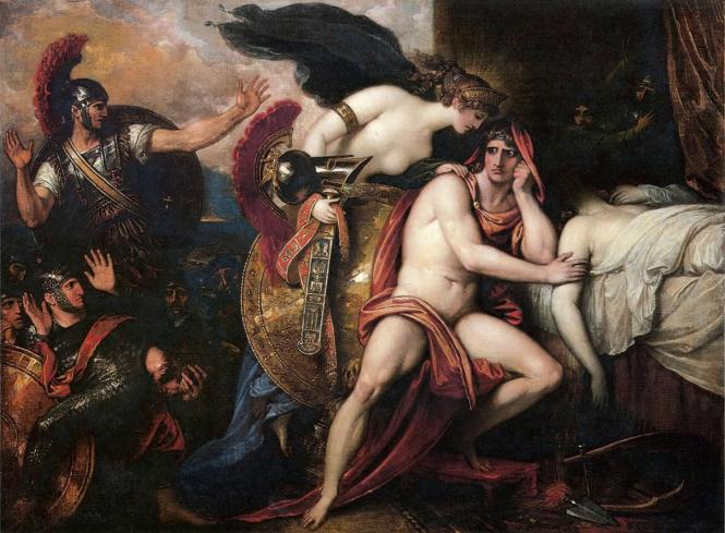 Thetis bringing Armor to Achilles I, Benjamin West, 1806. Source: CC0 via Wikimedia Commons