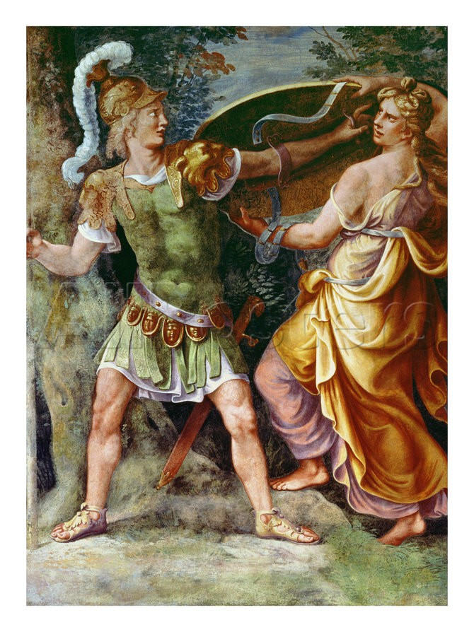 Thetis giving Achilles his armor by Giulio Romano [1499-1546]. Source: Wikimedia Commons