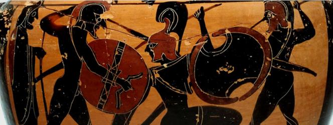 Attic Black-figure Amphora attributed to the Tyrrhenian Group, ca. 560-550 BCE. Source: copyright Yale University Art Gallery, via Dartmouth.edu