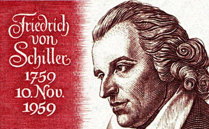 Friedrich Schiller - German Postage Stamp via Wikimedia Commons