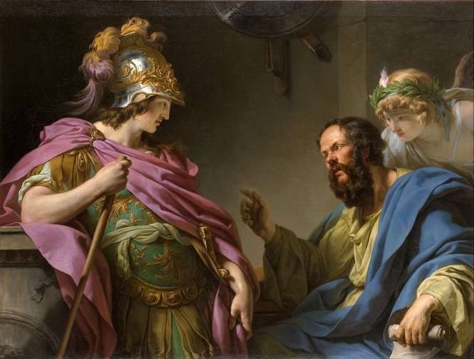Alcibades being taught by Socrates, François-André Vincent, 1776. Source: CC0 via Wikimedia Commons