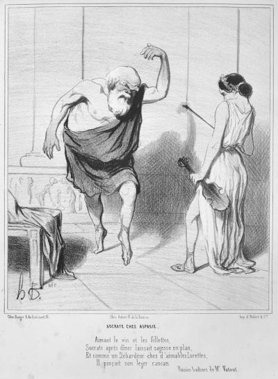 Socrates in the House of Aspasia (Socrate chez Aspasie) Honoré Daumier, 1842. Source: Copyright mfa.org