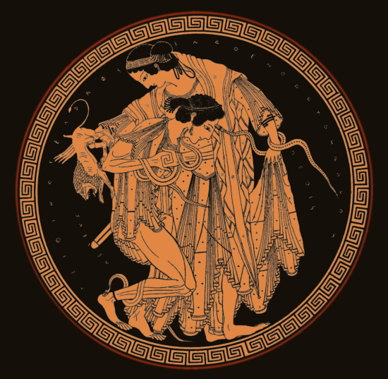 Trojan War Art - Peleus and the rape of Thetis
